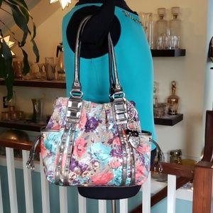 Kathy van Zeeland Floral Handbag